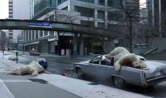 Campanha alertando sobre o aquecimento global mata Ursos Polares