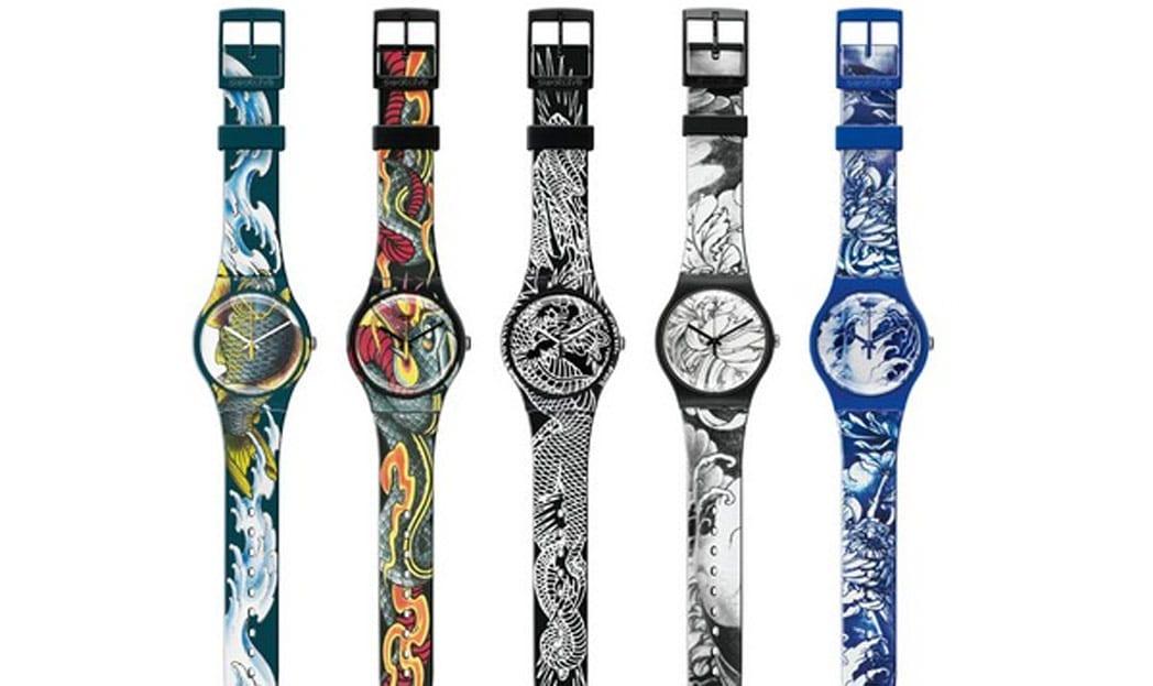Swatch lança coleção inspirada em tatuagens