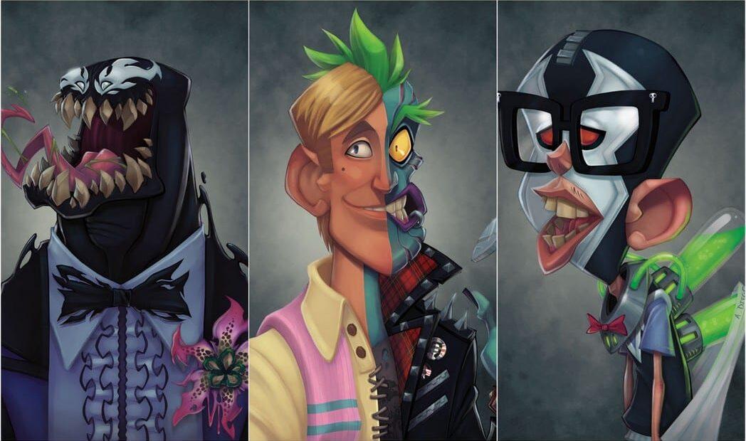 Designer cria o anuário escolar dos vilões dos quadrinhos
