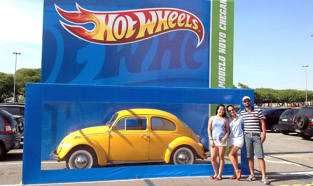Ação da Hot Wheels transforma carros de verdade em carrinhos de brinquedo