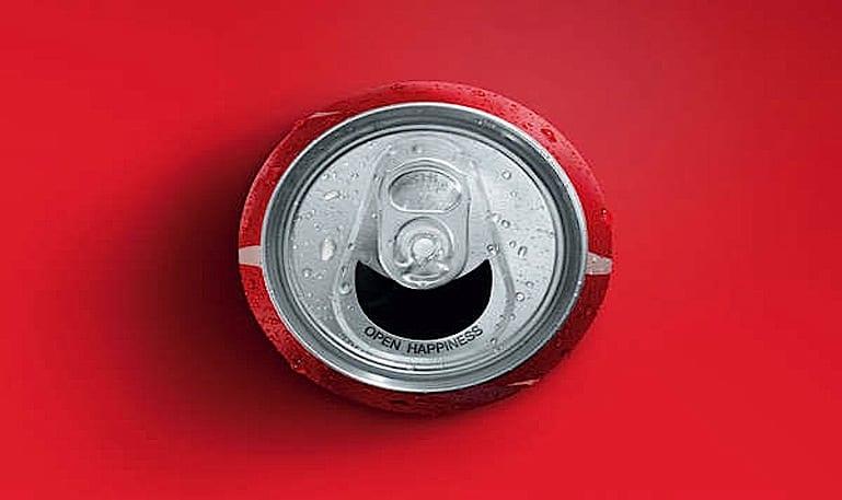 A lata da Coca-Cola que sorri pra você