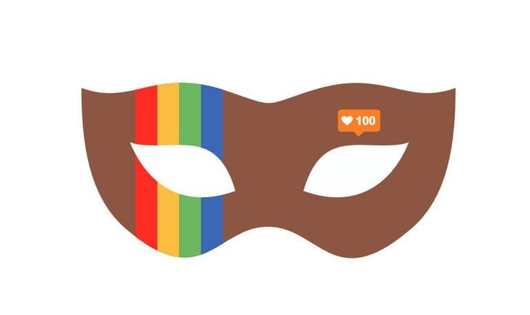 Máscaras de carnaval das redes sociais