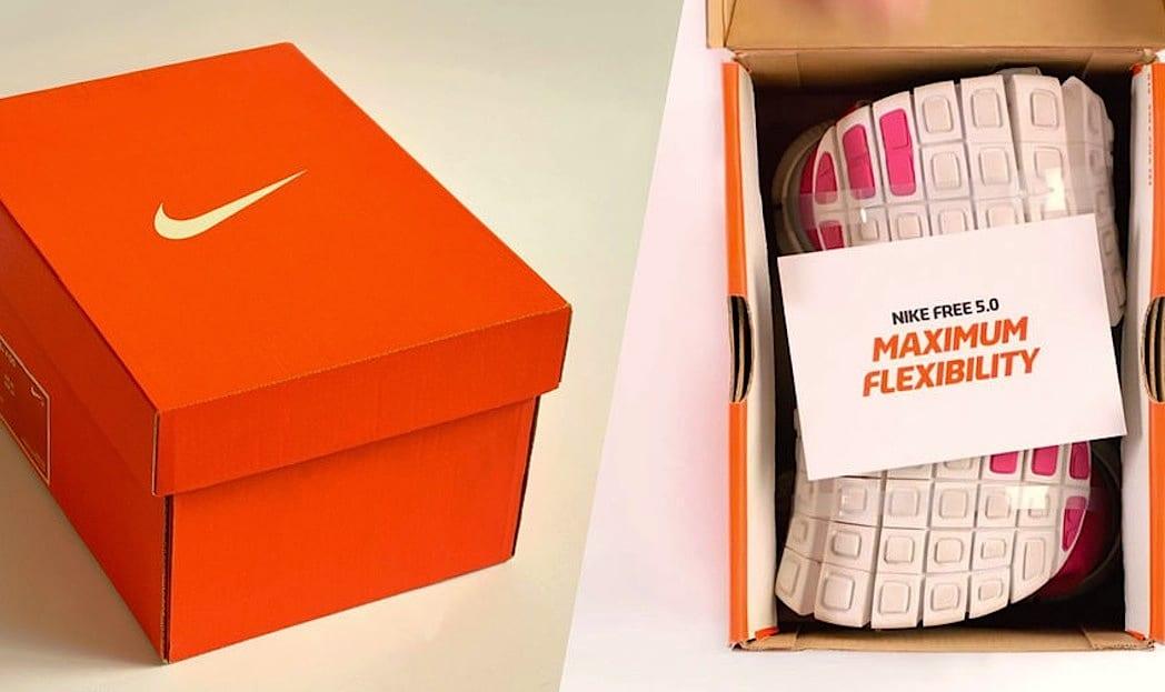 Tênis Nike super flexível ganha caixa que tem 1/3 do tamanho original