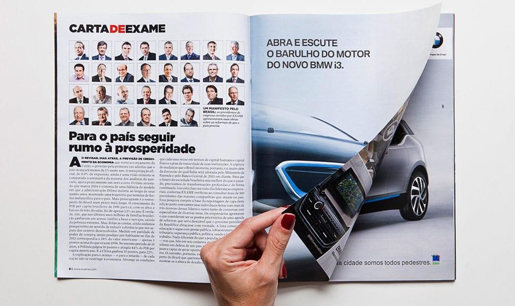 BMW e o seu anúncio silencioso em revista