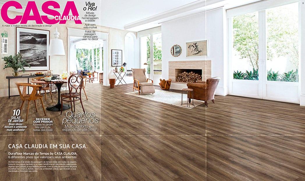 Durafloor amplia capa de revista especializada em decoração