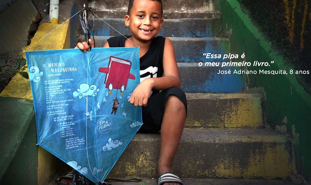 Pipas ilustradas com contos infantis estimulam o hábito de ler