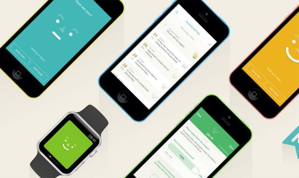 Moodnotes - um app/diário pra ser mais feliz