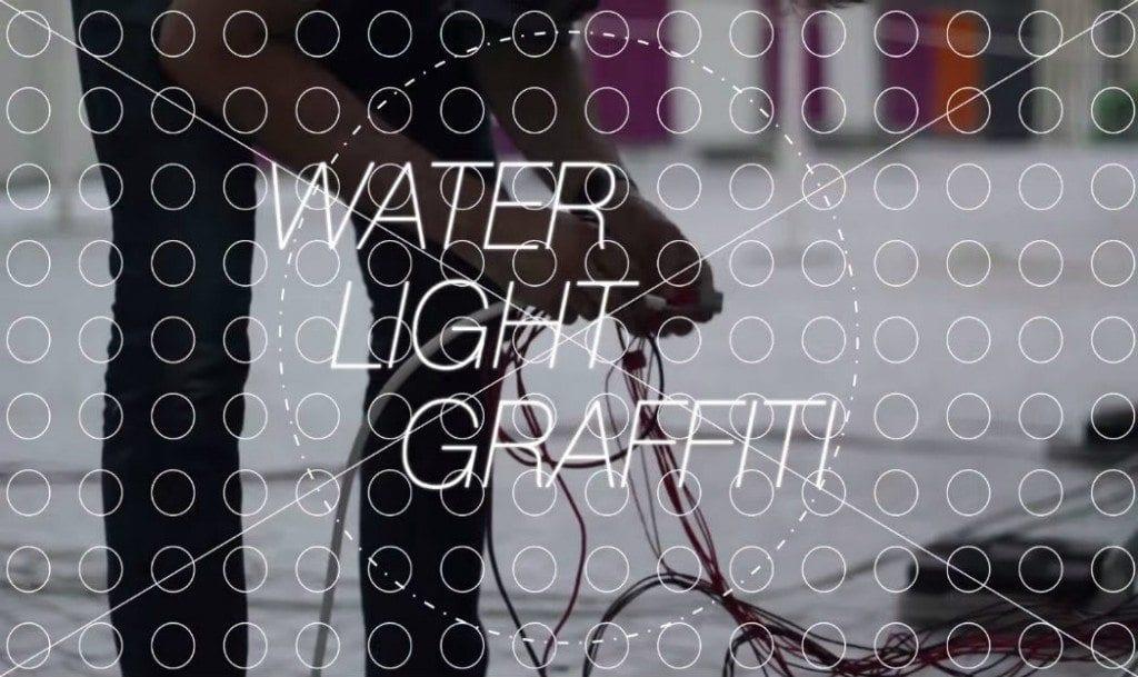 água-LED-arte