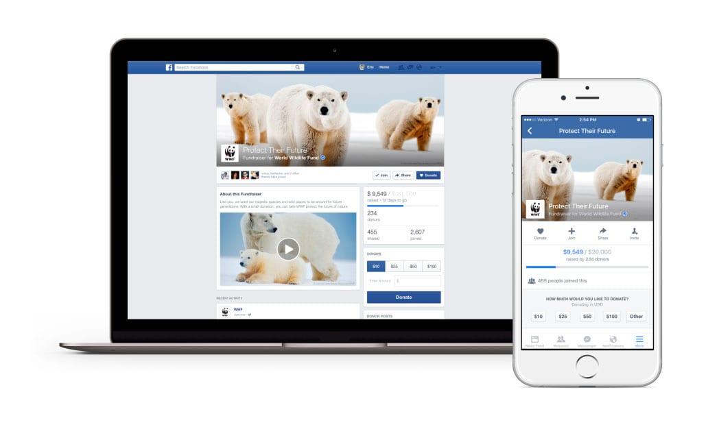 Facebook lança recurso de crowdfunding para entidades sem fins lucrativos