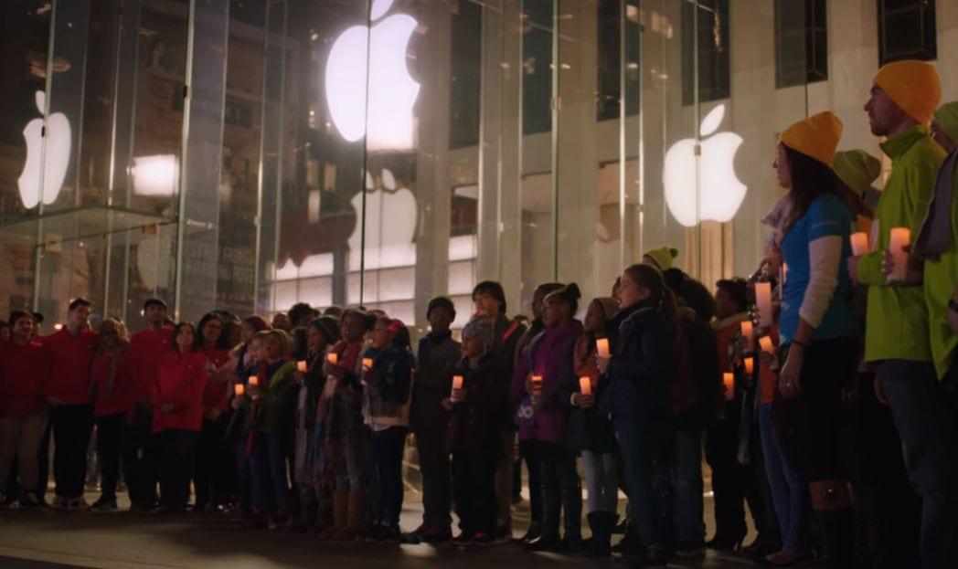 microsoft canta feliz natal apple