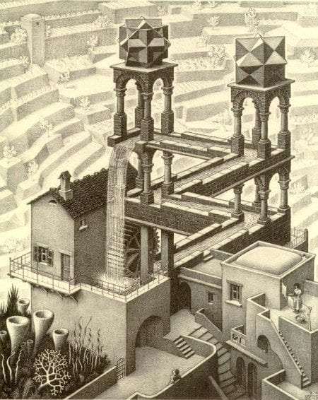 perspectiva escher Monument Valley
