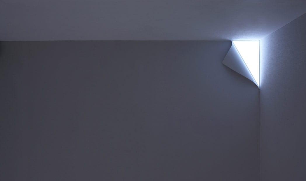 Luminária de canto criativa
