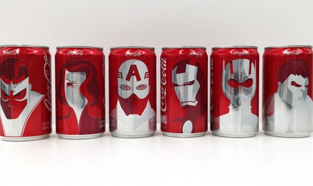 Coca-Cola e Marvel se juntam e lançam latinhas de heróis