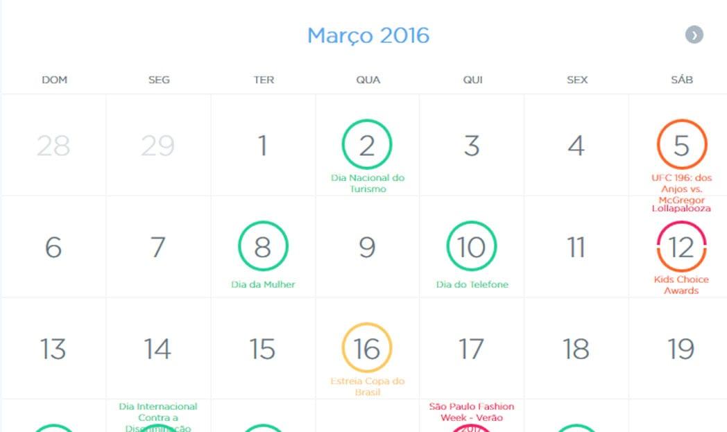 Calendario Social.Twiter Calendario Social Media Comunicadores