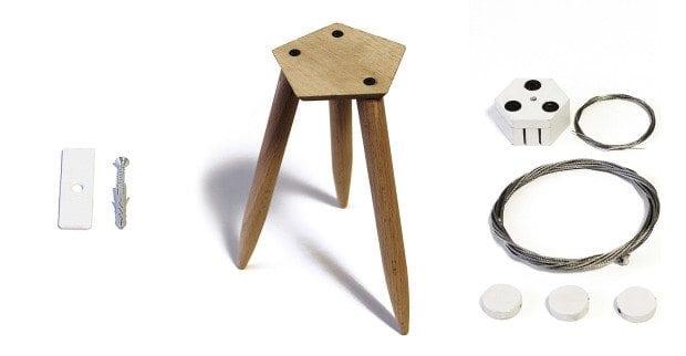O Twelve tem suportes para mesa, parede e teto!