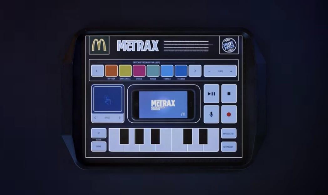 mctrax A toalha de papel do McDonald's que cria música eletrônica