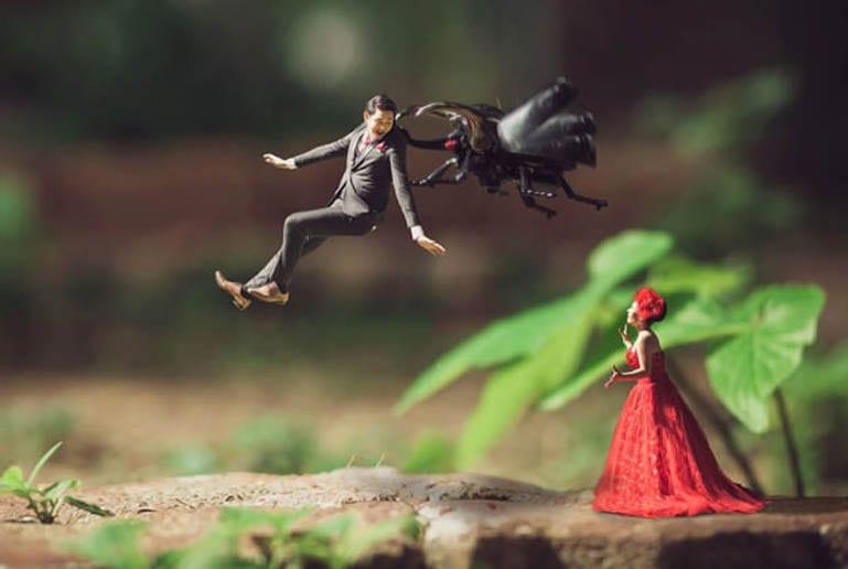 Fotógrafo transforma casais em miniaturas