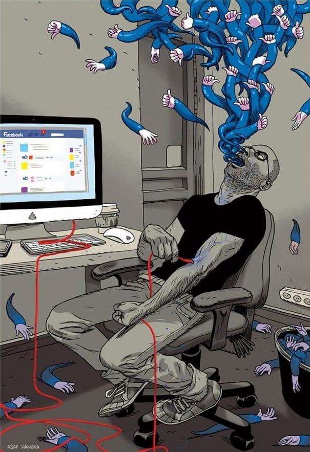 vicio tecnologia ilustracoes (7)