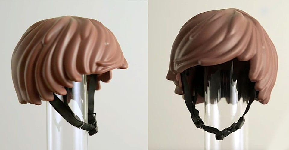 Esse capacete transforma você em um boneco Playmobil