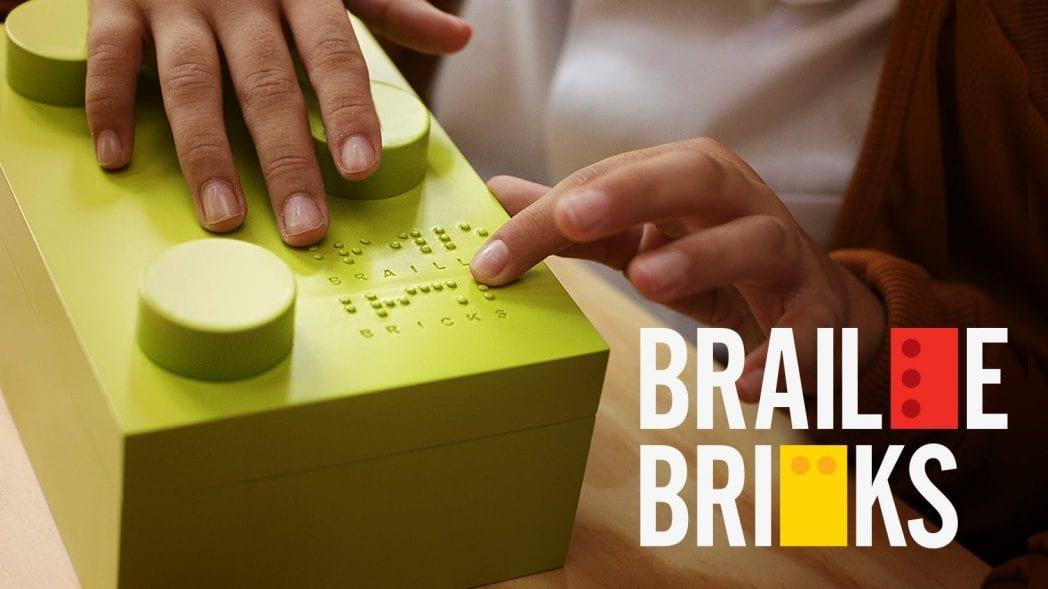 Blocos LEGO transformados em ferramenta de alfabetização para crianças cegas