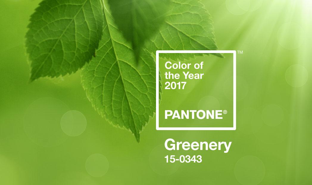 Pantone revela a Cor do Ano de 2017: Greenery