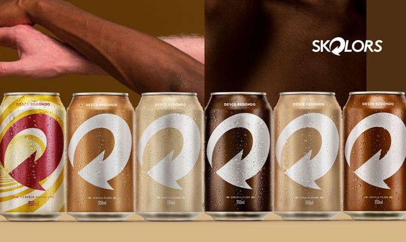 Skol lança latas que simulam os tons da pele e ressaltam a pluralidade
