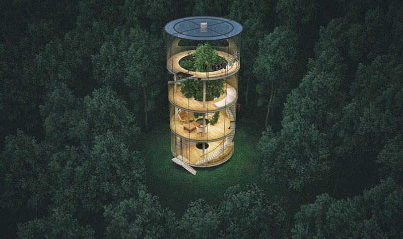 A casa na árvore com mais estilo que você já viu
