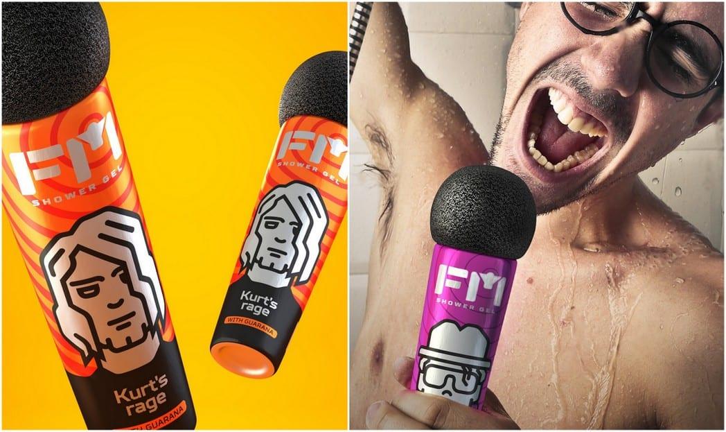 Embalagem de shampoo para quem gosta de cantar no chuveiro