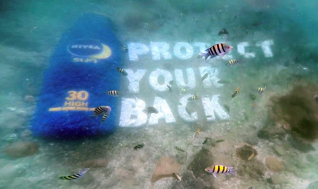 O anúncio aquático e ecologicamente correto do Nivea SUN
