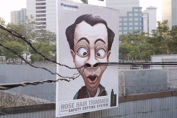 Ação de ambiente para promover o cortador de pelos do nariz da Panasonic