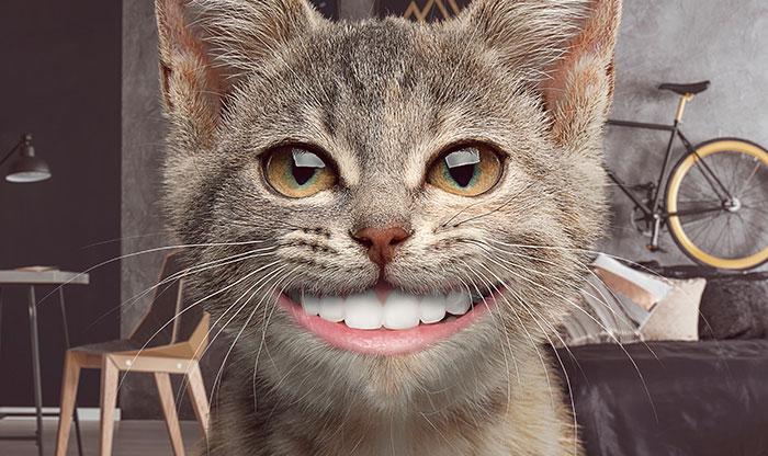 Você pode usar o filtro que quiser mas cuide dos seus dentes!