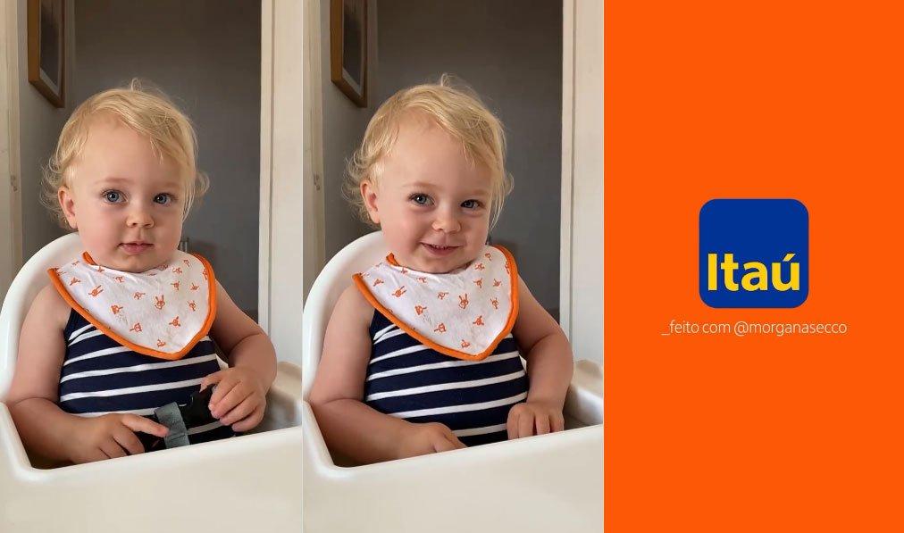 Itaú convida bebê Alice para novo vídeo da campanha #FeitoComVc